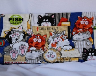 Alley Cats Checkbook Cover