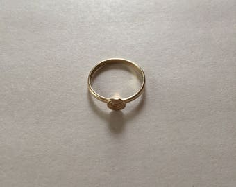 golden spiral ring || 90s minimalist thin stacking ring || size 5.5