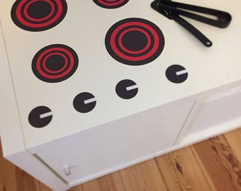 Children's Stove Top Vinyl for Tote for Play Sets, Cookware Fun, and Pretend Toy Activities Kitchen Play