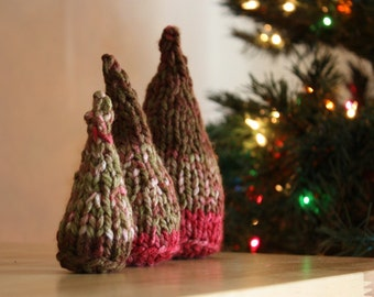 Christmas Trees / Knitting and Crochet Pattern / Set of Three / DIY tutorial