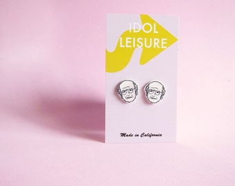 Larry David Earrings - Curb Your Enthusiasm - Nickel Free - Seinfeld - Gift Idea