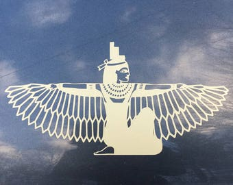 Ancient Egyptian Goddess Isis Wings - Vinyl Car Decal - History Teacher Gift - History Buff Gift - Religious Decals - Ancient Egyptian Decal