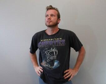 Vintage 90s Phoenix Coyotes Hockey Tee Shirt