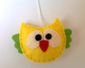 Felt owl ornament handmande Christmas Housewarming home decor Baby shower nursery decoration eco friendly
