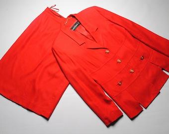 vintage Louis Feraud women's suit blazer jacket and skirt SIZE F42 authentic