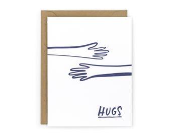 Hugs Letterpress Card
