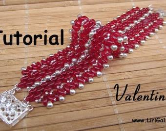 Valentine Superduo Beadwork Bracelet PDF Tutorial