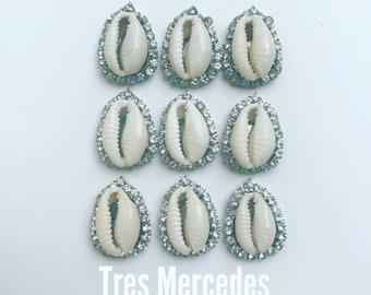 Lola- earrings cowrie shell rhinestone
