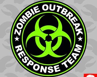 Zombie Outbreak Response Team Sticker Self Adhesive Vinyl Type 2 - C947