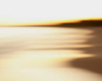 Abstract beach landscape photograph. Extra large modern coastal surf art print. Peaceful living room decor. Homecoming gift for travellers.