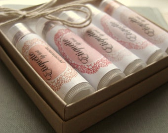 Ready to Ship - Gift Set of 5 Lip Tints- Your choice of Colors