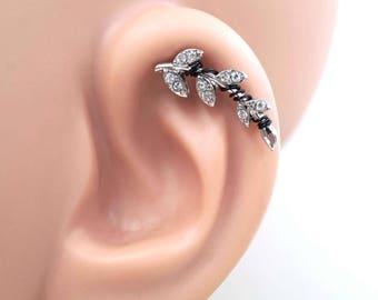 Cartliage Earring Tragus Earring Helix Piercing Crystal Vine
