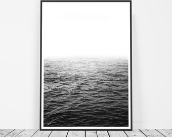 Photography, Large Wall Art, Coastal Decor, Black and White Photography, Ocean Print, Art Print, Water Art, Wave, Sea, Water Print