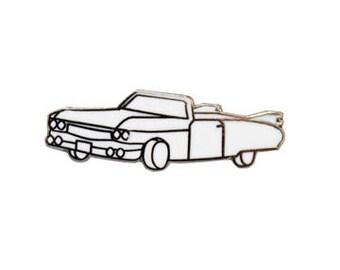 50's Cadillac Retro Car Hard Enamel Pin