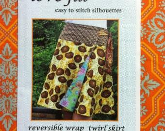 Girls/Tween size 6/8, 10/12 lovejill  reversible wrap skirt sewing pattern
