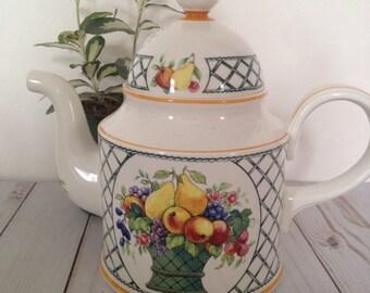 Villeroy and Boch Basket Pattern/Coffee Pot
