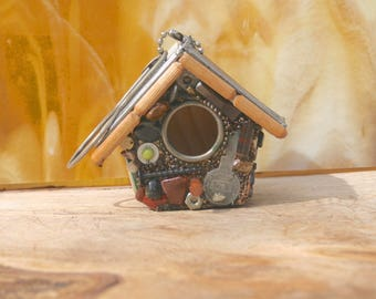 Small Hanging Birdhouse, Handmade Birdhouses, Fathers Day Gift, Grandpa Gift
