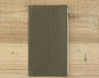 Olive - Fourruof Fabric Traveler's Notebook Insert (Standard)