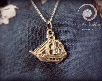 Sailing Boat Pendant,Silver Boat Necklace, Silver chain Necklace, SailBoat SIlver Necklace,Sailing lovers jewellery,silver jewellery