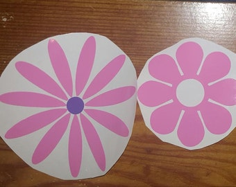 2 Flowers Decal