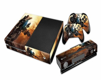 Titanfall Xbox One Console Skin Sticker Kinect decal + 2 controller Vinyl