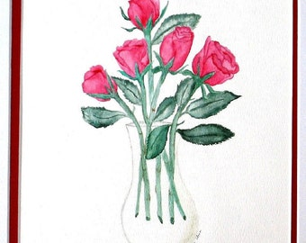 Red Roses Limited Edition Fine Art Print by DENISE SLOAN