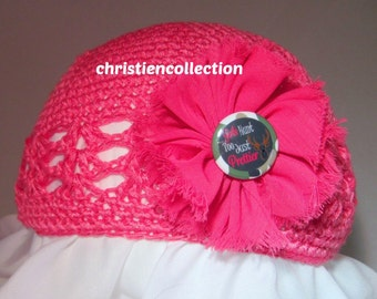 Pink Crochet Beanie-Toddler Hat-Toddler Beanie-Baby Beanie-Baby Hat-Photo Prop Hat-Girls Hunt Too-Country Girl-Winter Hat-Christmas Beanie