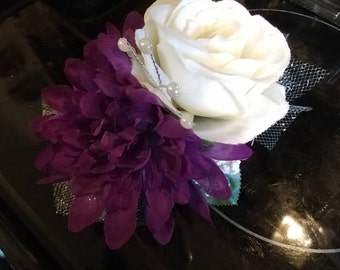 Corsage and matching BOUTONNIERE- Your choice of color
