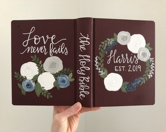 Wedding Bible // Custom Design // Unique Guestbook