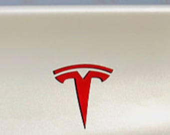 """Tesla Model 3 Rear Tailgate """"T"""" Logo Accent Decal"""