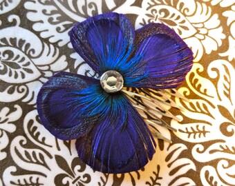 BLAIR Peacock Purple Bow cheveux peigne