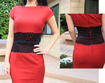 VENICE pencil designer inspired dress custom made wiggle