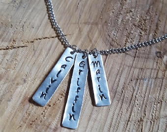 Stamped tag necklace // Custom