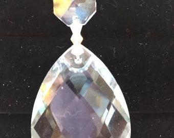 5 Diamond Cut 38mm Teardrop Chandelier Crystals Prisms Asfour Lead Crystal