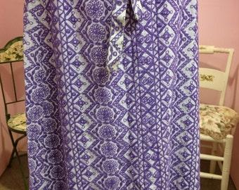 Vintage 1960's Crewel Embroidered Skirt