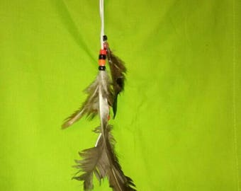 Feather clip with natural feathers. Free shipping in that USA