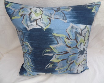 """Clearance Blue, pistachio green decorative flowered 16"""" cushion cover,  pillow, scatter cushion."""