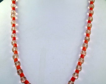 Vintage Mardi Gras Czech Glass Beads with TAG from New Orleans