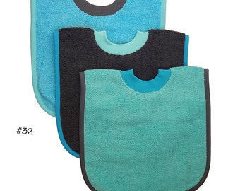 Pullover Baby to Toddler Bibs -- Set of Three -- Set 32