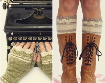 Brooklyn Boot Liners & Mitts PDF Knitting Pattern Instant Download (ENGLISH ONLY)