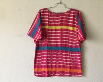 FREE SHIPPING - Vintage 70s India Cotton Blouse Boho Hippie