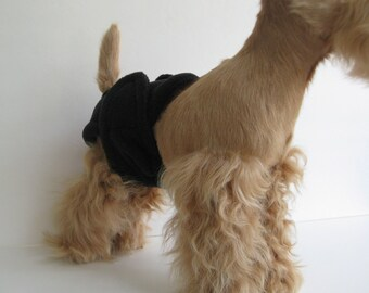 POOCHIE PANTZ black female dog diaper, custom made, all sizes