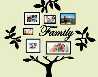 Family Tree Vinyl Wall Sticker Decal (D)