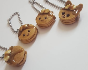 Stack of Pancakes - Polymer Clay Charm