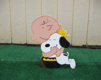 Peanuts Charlie Brown With Snoopy Yard Sign