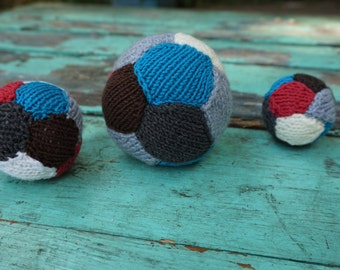 Toy Balls for Pets, Set of three, Crochet cat toys, Colorful dog toys, Play balls for pets, Home toys,