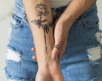 Temporary Floral Tattoos