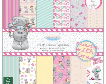 Me To You Sweet Shop 12x12 paper stack pad 36 sheets