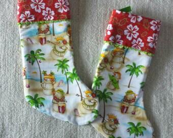 Christmas Stocking- Tropical Sandman Hawaiian
