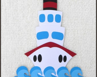 Die Cut Cruise Ship Scrapbook Page Embellishments for Card Making Scrapbook or Paper Crafts